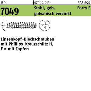500 Blechschrauben ISO 7049 Stahl 4,8 x 22 -F-H galv. verzinkt p