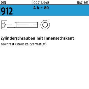 1 Zylinderschrauben DIN 912 A 4-80 M 16 x 80 A 4-80 VE=S