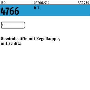 1.4305 Gewindestifte mit Kegelkuppe und Schlitz ISO 4766 Edelstahl A1