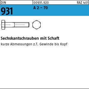 1 Edelstahl V4A Sechskantschrauben DIN 931 A4-70 M14x120