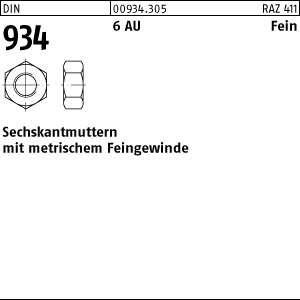 Sechskantmuttern Feingewinde- 100 Stück M8x1--