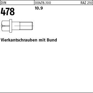 D2D DIN 603 VPE: 4 St/ück Edelstahl A2 VA mit Vollgewinde Schlossschrauben mit Vierkantansatz M8 x 70